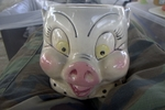 Evil Japanese ceramic Porky head