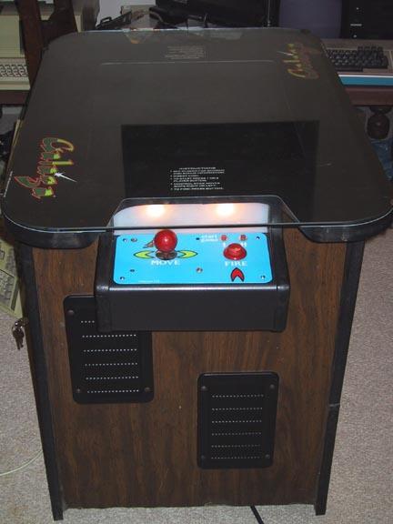 WinterMame - Cocktail Galaga cabinet reborn as a MAME machine